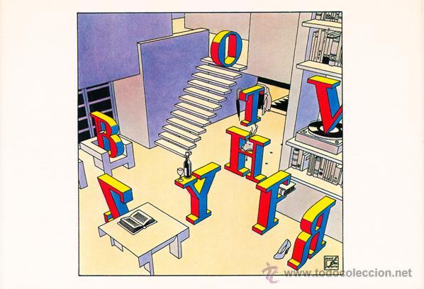 JOOST SWARTE. POSTAL PARA UNA REVISTA DE TIPOGRAFÍA. AMSTERDAM, 1987 (Postales - Varios)