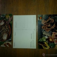 Postales: 3 POSTALES IBERIA, PLATOS TIPICOS. Lote 46705063