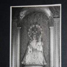 Postales: FOTOGRAFIA DE LOS AÑOS 50. LA VERGE DEL REMEI. IGLESIA DE S. FELIU (GIRONA). Lote 46887109