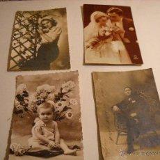 Postales: CUATRO BONITAS POSTALES ANTIGUAS CIRCULADAS (VER FOTOS).. Lote 47665167
