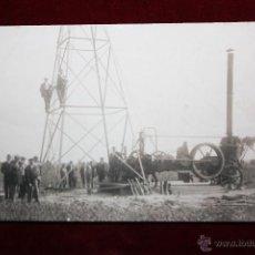 Postales: ANTIGUA POSTAL -CONSTRUCCIÓN DE TORRE ELECTRICA - SIN CIRCULAR.. Lote 47669465