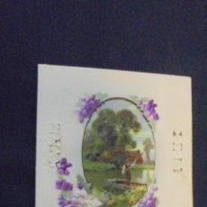 Postales: ANTIGUA POSTAL EN RELIEVE - MUCHAS FELICIDADES - 1928.. Lote 47789533