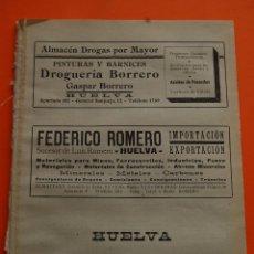 Postales: HUELVA AÑO 1947 -PARTIDO JUDICIALES ARACENA AYAMONTE MOGUER PALMA DEL CONDADO VALVERDE DEL CAMINO. Lote 47850323