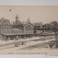 Postales: TARJETA POSTAL Nº 13 AMIENS GARE SAINT-ROCH THE RAILWAY STATION ST. ROCH, SIN CIRCULAR. Lote 48435772