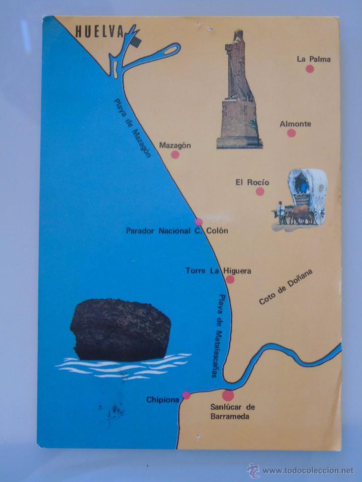 matalascanas espanha mapa postal de huelva. año 1974. matalascañas, torre   Comprar Postales  matalascanas espanha mapa