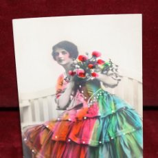 Postales: ANTIGUA FOTO POSTAL COLOREADA. ESTILO MODERISTA. SIN CIRCULAR. Lote 48845797