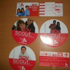 Postales: SCOUTS DE ESPAÑA,CARNET,PEGATINAS. Lote 48897825