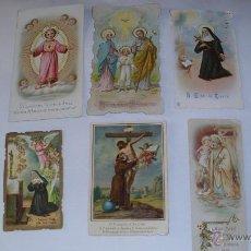 Postales: SEIS ESTAMPAS RELIGIOSAS, FINALES SIGLO XIX Y PRINCIPIOS SIGLO XX. Lote 49038051