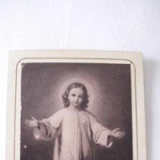 Postales: PRECIOSA ESTAMPA DEL NIÑO JESÚS, SUIZA, SIGLO XIX. BENZIGER & CO. EINSIEDELN. SUIZA. Lote 49038196