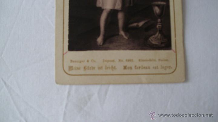 Postales: Preciosa estampa del Niño Jesús, suiza, siglo XIX. Benziger & Co. Einsiedeln. SUIZA - Foto 2 - 49038196