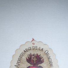Postales: CURIOSO ESCAPULARIO DEL APOSTOLADO DE LA ORACIÓN. PÍO IX. 14 JULIO 1877. Lote 49038356