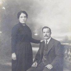 Postales: L-1271.FOTOGRAFIA POSTAL DE UN MATRIMONIO. BEZIERS. FRANCIA. AÑOS 20.. Lote 49322029