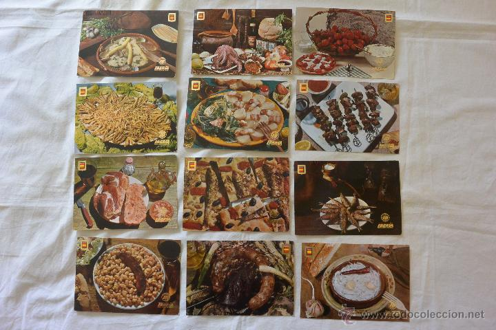 LOTE 12 POSTALES IBERIA PLATOS REGIONALES ESPAÑA (Postales - Varios)