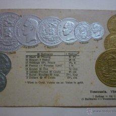 Postales: MONEDAS NACIONALES DE VENEZUELA. SIN CIRCULAR.. Lote 49594765