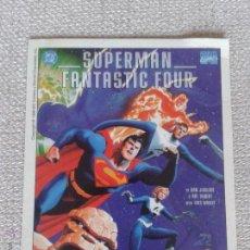 Postales: POSTAL SUPERMAN / FANTASTIC FOUR - SALON DEL COMIC BARCELONA. Lote 49625924
