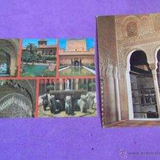 Postales: POSTALES-VARIOS-V32-GRANADA-ALHAMBRA-ESCRITAS. Lote 49664210