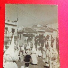 Postales: POSTAL FOTOGRÁFICA SEMANA SANTA SEVILLA: COFRADÍA NUESTRA SRA. DE LOS DOLORES (CARMONA). Lote 50062544