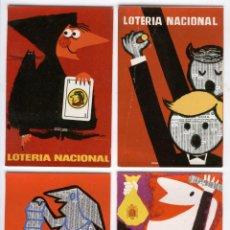 Postales: 12 POSTALES LOTERIA NACIONAL 1958,60 Y 62. Lote 50541448