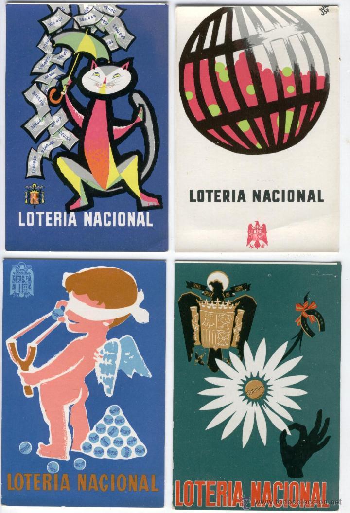 Postales: 12 POSTALES LOTERIA NACIONAL 1958,60 Y 62 - Foto 3 - 50541448