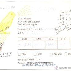 Postales: VILLENA. TARJETA POSTAL DE RADIOAFICIONADO. Lote 50568163