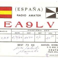 Postales: CEUTA. TARJETA POSTAL DE RADIOAFICIONADO. Lote 50568325