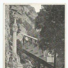 Postales: POSTAL DE FOTOGRAFIA DE FUNICULAR DE MONTSERRAT A S. JUAN - SIN CIRCULAR. Lote 50570898