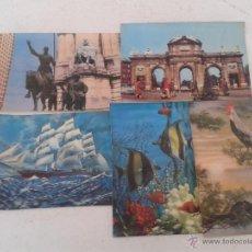 Postales: LOTE 5 POSTALES SURTIDO DE MATERIAL EN TELA O SIMILAR... CIRCULADAS. Lote 50699509