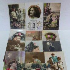 Postales: LOTE 13 ANTIGUAS POSTALES COLOREADAS. PRINCIPIOS S.XX. VER DESCRIPCION. Lote 50887059