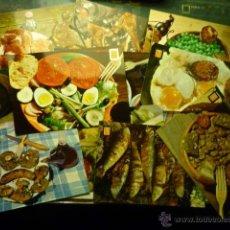 Postales: LOTE DE POSTALES CON PLATOS TIPICOS ESPAÑOLES --BB. Lote 51036127