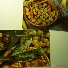 Postales: LOTE POSTALES PLATOS TIPICOS ESPAÑOLES--BB. Lote 51059493
