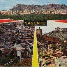 Postales: TARJETA POSTAL, VALENCIA - SAGUNTO - VALENCIA - TEATRO ROMANO Y CASTILLO. Lote 51133942