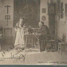 Postales: 2 POSTALES ANTIGUAS DE -PARROCO ESCRIBIENDO -COLECCION CANOVAS L-7-LL14 - ESCRITAS EL 29 -8 - 1902. Lote 51408810