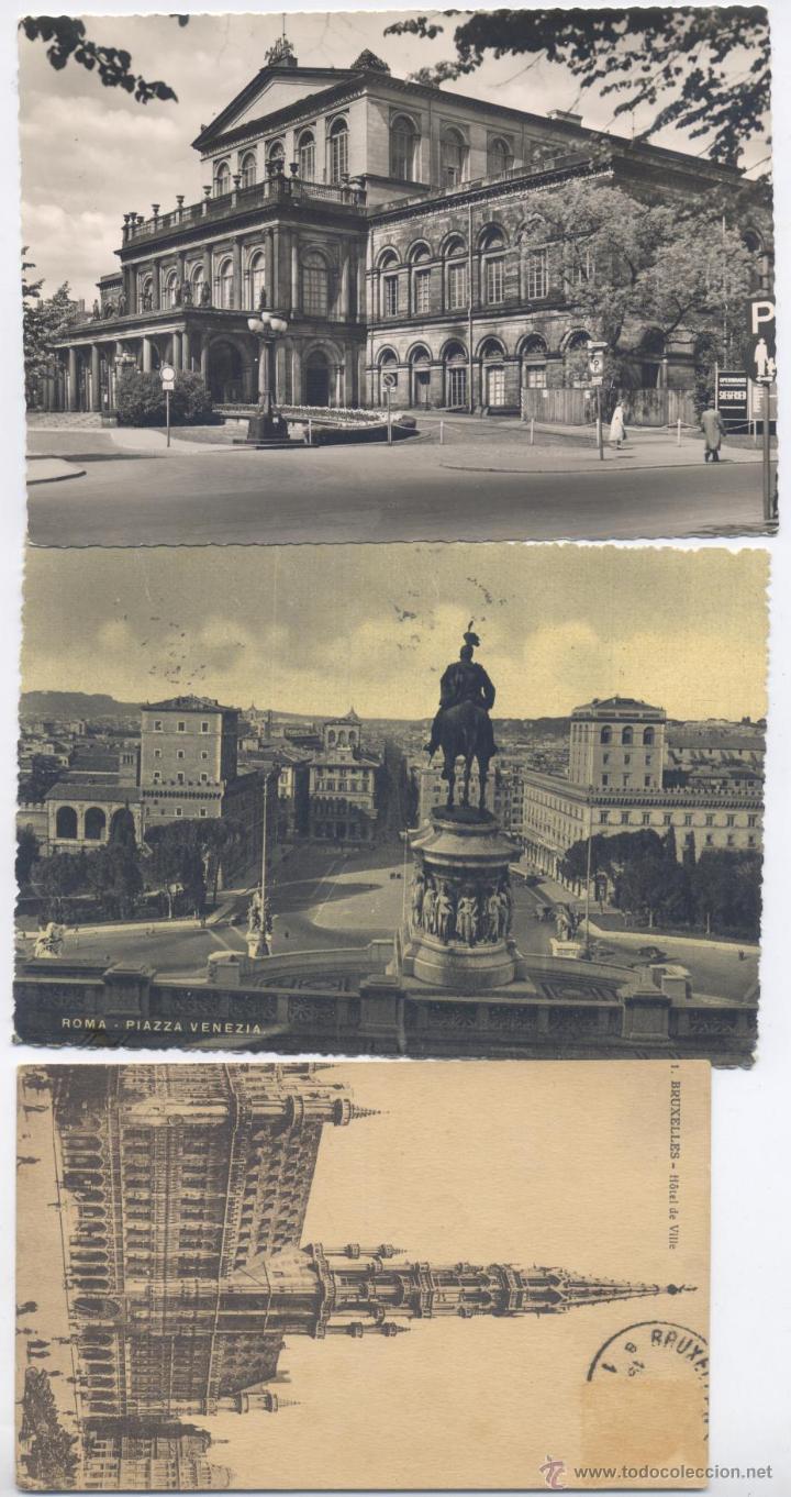 LOTE DE 100 POSTALES, EN BLANCO Y NEGRO-EXTRANJERAS-AÑOS 1920/1960 (Postales - Varios)