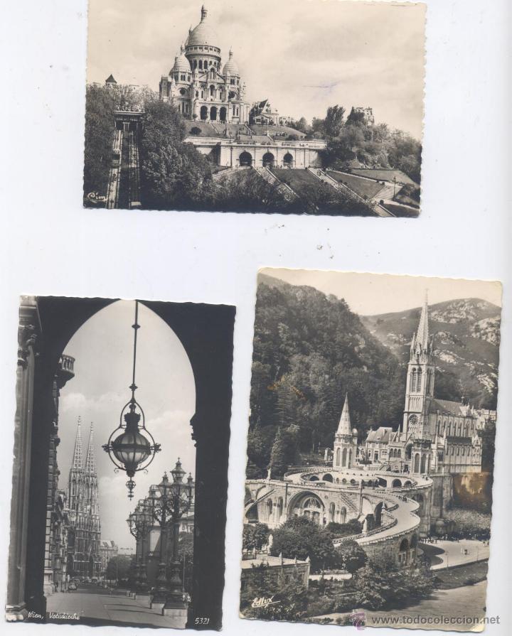 Postales: LOTE DE 100 POSTALES, EN BLANCO Y NEGRO-EXTRANJERAS-AÑOS 1920/1960 - Foto 5 - 51626898
