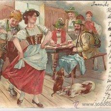 Postales: BONITA POSTAL CIRCULADA DIRIGIDA A VALENCIA. Lote 51966313