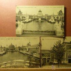 Postales: EXPOSITION UNIVERSALLE DE GAND 1913 -LOTE DE 3 POSTALES . Lote 52497095