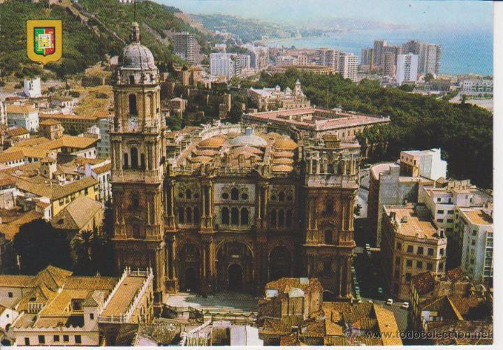 45 malaga vista aerea de la catedral comprar postales de andaluc a en todocoleccion 53327085 - Fotografia aerea malaga ...