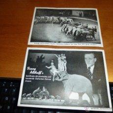 Postales: POSTALES DEL MAS ANTIGUO CIRCO DE ALEMANIA, CIRCUS FRANZ ALTHOFF, DE 15 X 10,5 CM. SIN CIRCULAR. Lote 53555996