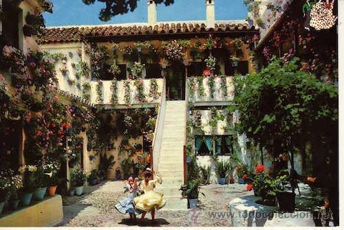 Magnifica postal baile en un patio andaluz se comprar - Un patio andaluz ...