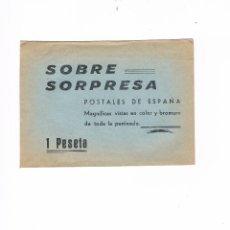 Postales: SOBRE SORPRESA POSTALES DE ESPAÑA ANTIGUO ABIERTO. Lote 53810809