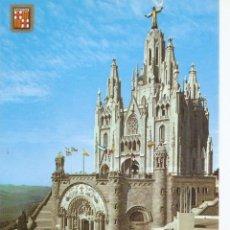Postales: POSTAL 038444 : BARCELONA. TIBIDABO. TEMPLO EXPIATORIO. Lote 55613728