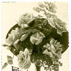 Postales: FELICITACIÓN, POSTAL FOTOGRÁFICA DE RAMO DE FLORES, 1946. Lote 55718287