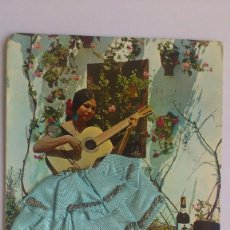 Postales: POSTAL TRAJE DE FLAMENCA CON FALDA DE TELA, AÑO 1980, CIRCULADA. Lote 55887358