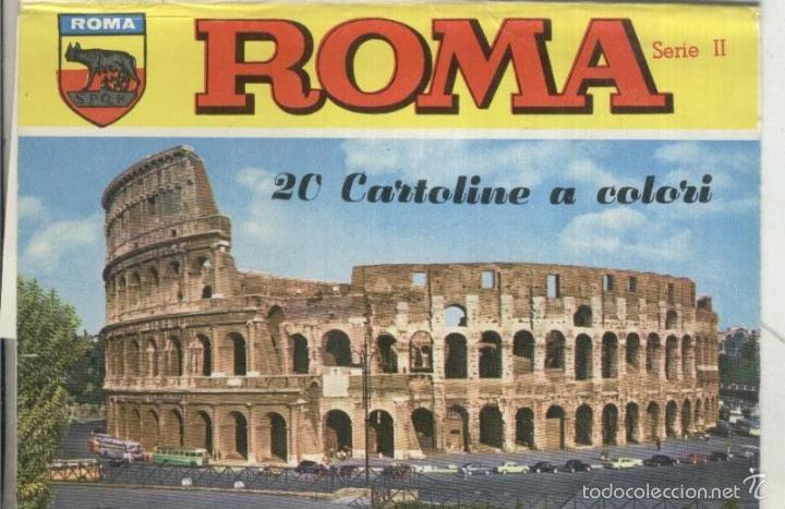 POSTAL: ROMA: CARPETA VACIA DE ESTUCHE POSTALES (Postales - Varios)