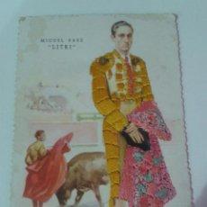 Postales: POSTAL BORDADA MIGUEL BAEZ EL LITRI. Lote 56472338