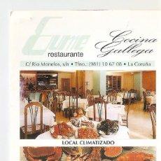 Postales: POSTAL 041831 : EUME RESTAURANTE COCINA GALLEGA (LA CORUA). Lote 56477719