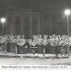 Postales: POSTAL 55010: GERONA. NEVADA 1959-60. PLAZA MARQUES DE CAMPS. Lote 56625118