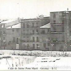 Postales: POSTAL 55021: GERONA. NEVADA 1959-60. CALLE DE JAUME PONS. Lote 56625129