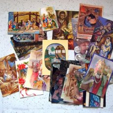 Postales: TARJETAS POSTAL - ESTAMPAS . PESEBRES . LOTE DE 37. Lote 56738622
