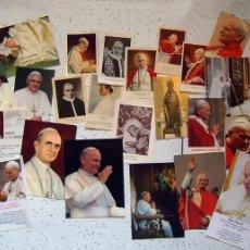 Postales: TARJETAS POSTAL . ESTAMPAS . PAPA PIO X , JUAN XXIII , PABLO VI , PIO XII . LOTE DE 22. Lote 56738711